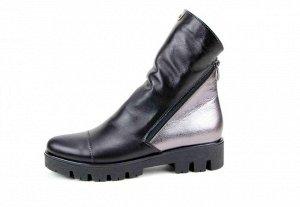 Ботинки кожа черный/никель2 демисезон