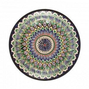 Тарелка плоская, 25 см, микс