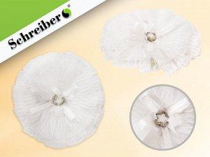 Резинка для волос БЕЛЫЙ БАНТ, 10.5 х 10,5 см, на картонной подложке