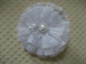 Резинка для волос БЕЛЫЙ БАНТ, d=10 см на картонной подложке