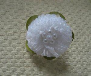 Резинка для волос БЕЛЫЙ БАНТ, d=5,5 см, на картонной подложке