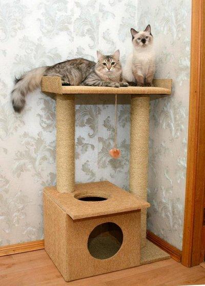 Кошкин дом-22🐱 — Игровые комплексы для кошек — Домики и когтеточки