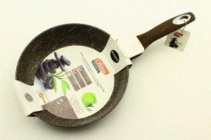 Сковорода 24см с гранитным, антипригарным покрытием.