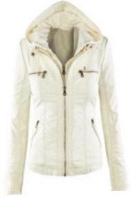 Куртка с капюшоном (капюшон отстегивается) Цвет: БЕЛЫЙ