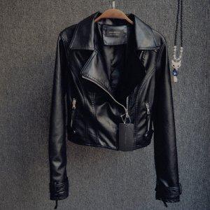 Короткая куртка-косуха Цвет: ЧЕРНЫЙ