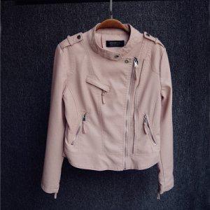 Куртка-косуха Цвет: СВЕТЛО-РОЗОВЫЙ