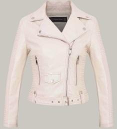 Утепленная куртка-косуха с поясом Цвет: БЕЛЫЙ