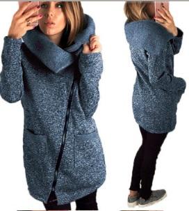 Пальто-косуха с широким отложным воротником Цвет: ТЕМНО-СЕРЫЙ