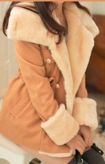 Пальто с широким воротником Цвет: СВЕТЛО-КОРИЧНЕВЫЙ