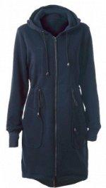 Длинная куртка с капюшоном и регулируемой талией Цвет: ТЕМНО-СИНИЙ