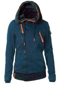 Куртка-косуха с капюшоном утепленная Цвет: СИНИЙ