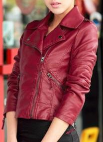 Куртка-косуха укороченная Цвет: БОРДО