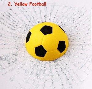 Наклейка 3д желтый футбол