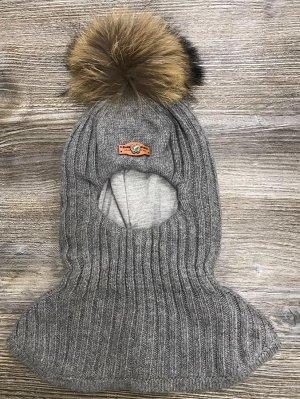 Шлем (мех на кнопке, натуральный)