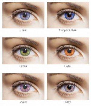 Перекрывающие цветные контактные линзы FreshLook Colors 2 линзы Только нулёвки