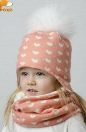 Чудесная шапуля! Персиковая! Реальное фото! На 2-4 года!