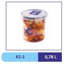Контейнер пласт. КРУГЛ 0,78, д/пищ.прод.//R2-2 (27)