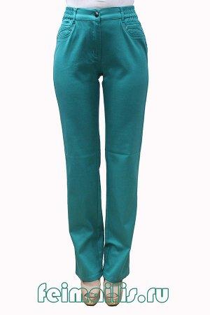 Слегка приуженные мятно-бирюзовые джинсы S70682A-1801-27 рр 13(48)