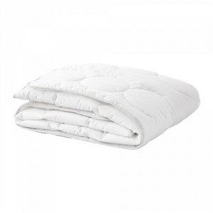 ЛЕНАСТ Одеяло в детскую кроватку, белый, серый