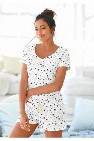 Пижама женская звездочки