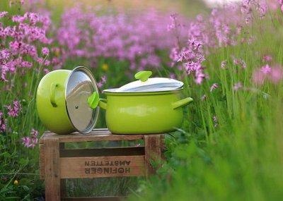 """💥Успеваем!Вся посуда из Чехии!Традиция,качество.Аналогов нет —  Серии """"Green line"""" и  """"Daisy"""".Толщина металла 1,2 мм --ХИТ! — Кастрюли"""