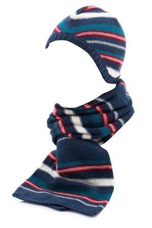 Комплект %50 Akrilik %50 Polyester Комплект шапка и шарфик для мальчика. Шапочка - чепчик без завязочек, тонкий одинарный. Шарф - двойной 150х20см
