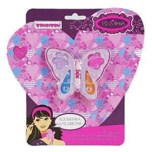 Подарочный набор для девочек Бабочка с тенями для век Bondibon EvaModa