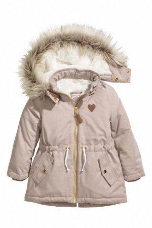 Парка H&M на рост 134-140, холодный  демисезон