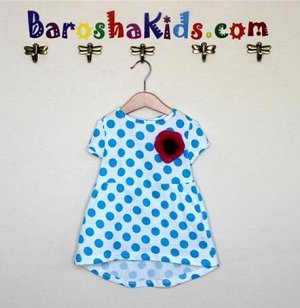 Платье с цветком из кулирки.