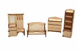Мебель (длина/ширина/высота, см).  скамейка: 3*8*5,5. комод: 3*6*6,5. прихожая (вешалка): 3*6,5*9. шкаф: 3*6*11,5. шкаф: 3*3*11,5
