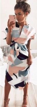Асимметричное платье-миди с короткими рукавами Цвет: вискоза