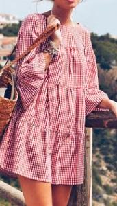 Платье свободного кроя с короткими рукавами Цвет: КРАСНЫЙ