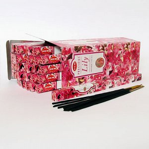 Благовония HEM, четырехгранники, Pr. Lilly (Драгоценная Лилия), 8шт. в упаковке