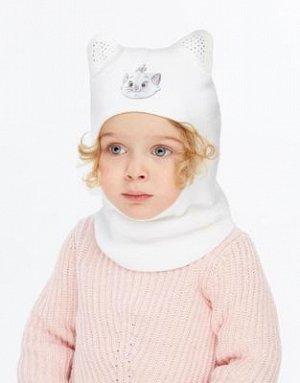 Продам новую шапку-шлем белого цвета