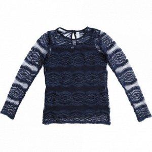 Блузка трикотажная для девочек темно-синий