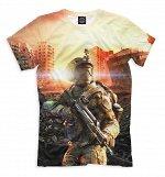 Мужская футболка  Warface  , Коллекция Action