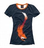 Женская футболка   Хитрая лисичка, Коллекция Лисы