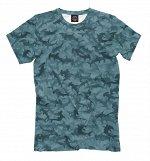 Мужская футболка   Камуфляж с акулами-молотами, Коллекция Ак