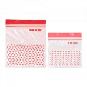 ИСТАД,Пакет пластиковый, красный, 60 шт