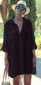Пляжная туника-рубашка Цвет: ЧЕРНЫЙ