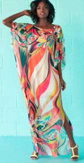 Длинная пляжная туника с рукавами средней длины Цвет: НА ФОТО