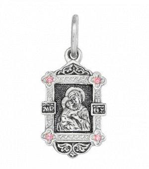 Образ (БМ Владимирская) из серебра литье