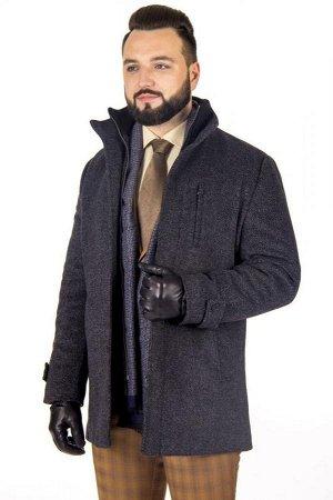 Пальто Модель: М6,Цвет: серый,Фактура: узор,Состав: шерсть-75%, вискоза-15%, полиэстер-10%,Артикул: 10502-М6