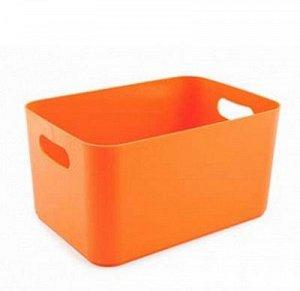 Корзина Корзина [JOY] МАНДАРИН. Яркие, жизнерадостные расцветки корзин Joy будут заряжать оптимизмом на весь день и добавят нотку индивидуальности в интерьер. Выполненные из прочного пластика изделия