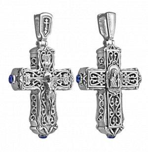 Крест-складень (БМ Казанская) из серебра литье