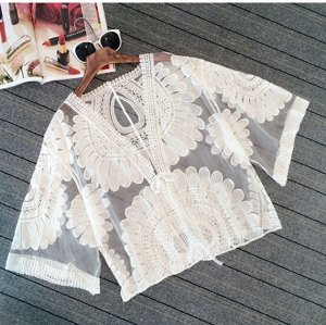 Солнцезащитная кружевная рубашка