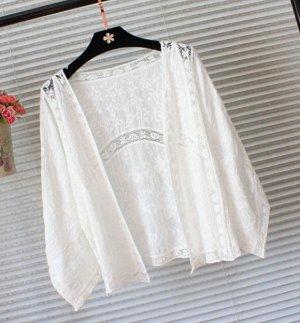 Солнцезащитный кружевная рубашка