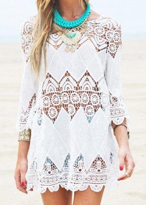 Кружевная блузка Цвет:БЕЛЫЙ
