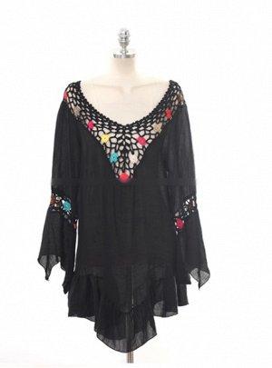 Блузка-платье с V-образным вырезом