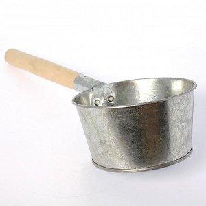 Ковш 1,5л Ковш 1,5л оцинк банный с дер руч
